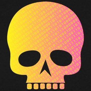 Skull binary code - Men's Premium T-Shirt
