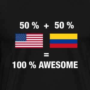 Half Colombian Half American 100% Awesome Colombia - Men's Premium T-Shirt