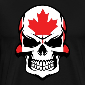 Canadian Flag Skull Cool Canada Skull - Men's Premium T-Shirt