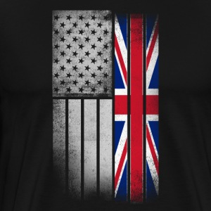 British American Flag - Men's Premium T-Shirt