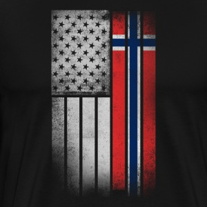 Norwegian American Flag - Men's Premium T-Shirt