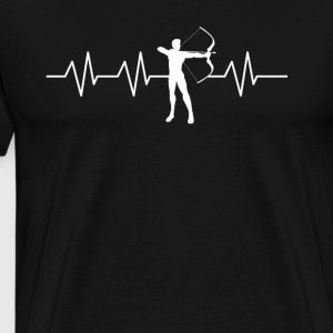 Heartbeat to be an Archer - Men's Premium T-Shirt