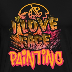 I LOVE FACE PAINTING SHIRT - Men's Premium T-Shirt