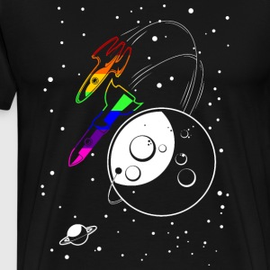 Gay Pride Love to the Moon and Back - Men's Premium T-Shirt