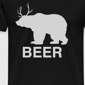 Bear Deer Beer - Men's Premium T-Shirt