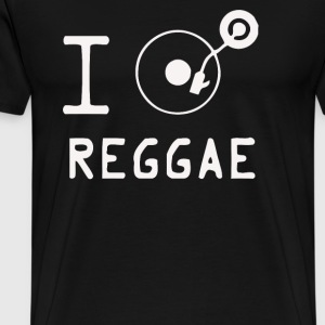 I heart Reggae - Men's Premium T-Shirt