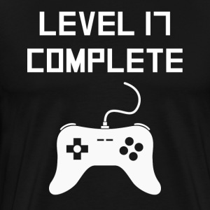 Level 17 Complete Video Games 17th Birthday - Men's Premium T-Shirt