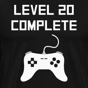 Level 20 Complete Video Games 20th Birthday - Men's Premium T-Shirt