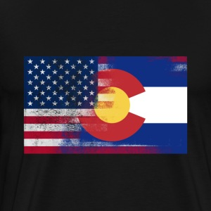 Colorado American Flag Fusion - Men's Premium T-Shirt