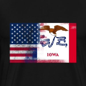 Iowa American Flag Fusion - Men's Premium T-Shirt