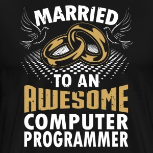Married To An Awesome Computer Programmer - Men's Premium T-Shirt
