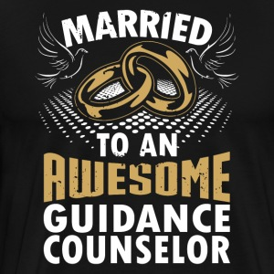 Married To An Awesome Guidance Counselor - Men's Premium T-Shirt