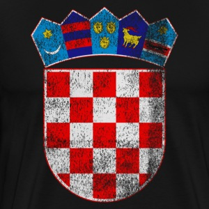 Croatian Coat of Arms Croatia Symbol - Men's Premium T-Shirt