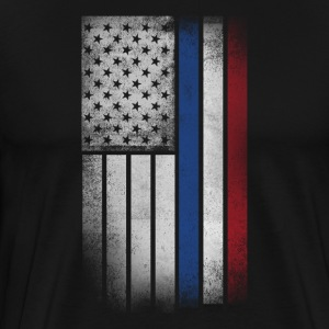 Dutch American Flag - Half Dutch Half American - Men's Premium T-Shirt