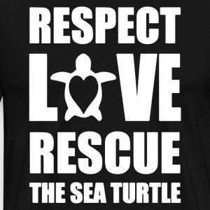 Love Rescue Sea Turtle Shirt - Men's Premium T-Shirt