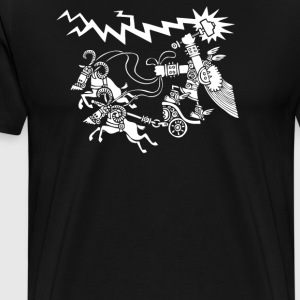 Thor riding goat - Men's Premium T-Shirt