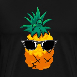 Pineapple Wearing Sunglasses - Men's Premium T-Shirt