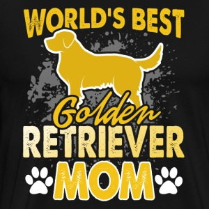 WORLD'S BEST GOLDEN RETRIEVER MOM SHIRT - Men's Premium T-Shirt