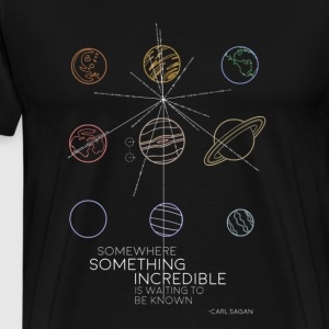 Planets and Star Map - Men's Premium T-Shirt
