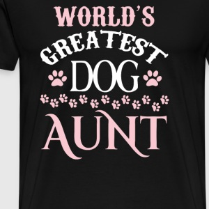 WORLDS GREATEST DOG AUNT - Men's Premium T-Shirt