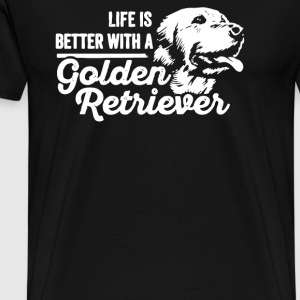 Life is Better With a Golden Retriever - Men's Premium T-Shirt