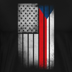 Czech American Flag - Men's Premium T-Shirt