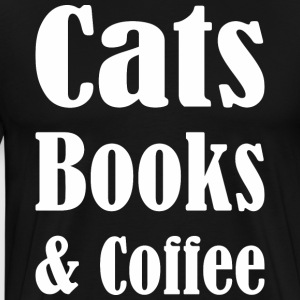 Cats Books & Coffee - Men's Premium T-Shirt