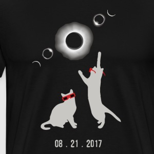 Cat total solar eclipse - Men's Premium T-Shirt