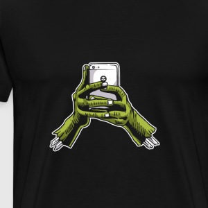 Zombie Phone. Smartphone for undead people. - Men's Premium T-Shirt
