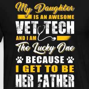 I get to be her father - Men's Premium T-Shirt