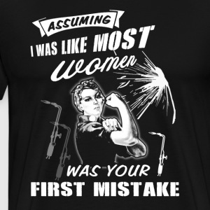 First Mistake Welder T-Shirts - Men's Premium T-Shirt
