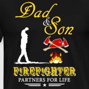 Dad And Son Firefighter T-Shirts - Men's Premium T-Shirt