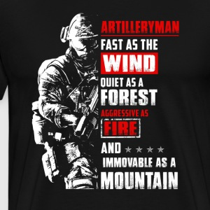 Fast As The Wind Quiet Artilleryman - Men's Premium T-Shirt
