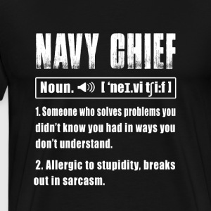 Navy Chief Noun - Men's Premium T-Shirt