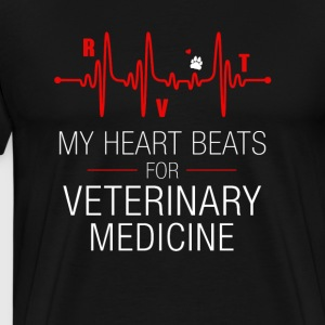 My Heart Beats For Vet Tech - Men's Premium T-Shirt