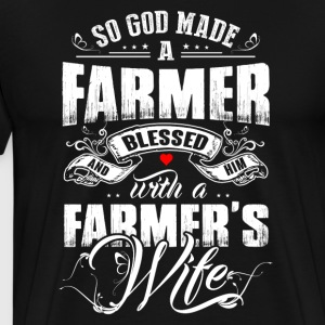 So God Made A Farmer Blessed - Men's Premium T-Shirt