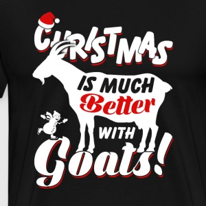 Christmas Is Much Goatss - Men's Premium T-Shirt