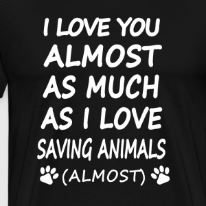 Saving Animlas - Men's Premium T-Shirt