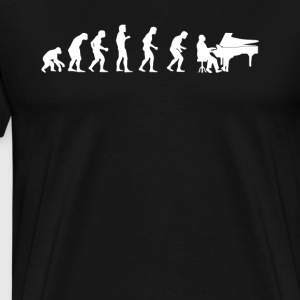 Evolution of pianist player - Men's Premium T-Shirt
