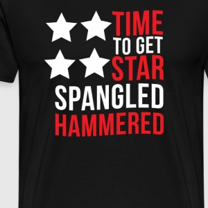 Time To Get Star Spangled Hammered - Men's Premium T-Shirt