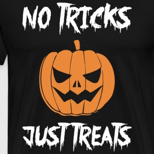 No Tricks Just Treats Pumpkin Happy Halloween - Men's Premium T-Shirt
