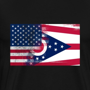Ohio American Flag Fusion - Men's Premium T-Shirt