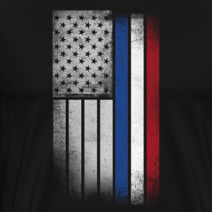 Dutch American Flag - Men's Premium T-Shirt