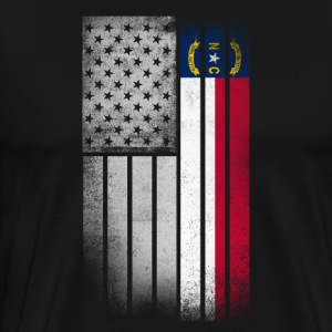 USA Vintage North Carolina State Flag - Men's Premium T-Shirt