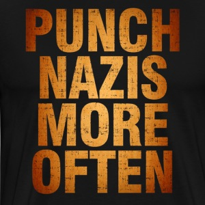 Punch More Nazis Shirt Pre - Men's Premium T-Shirt