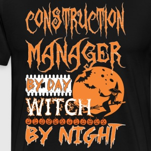 Construction Manager By Day Witch By Night Hallowe - Men's Premium T-Shirt