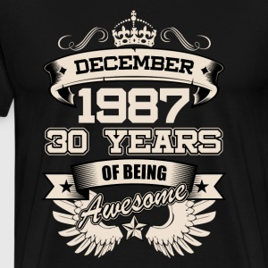 December 1987 30 Years Birthday Present Love Idea - Men's Premium T-Shirt