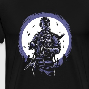 Gas Mask Soldier of the apocalypse. End is near. - Men's Premium T-Shirt