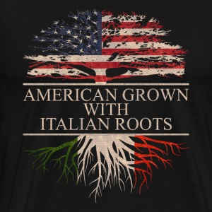 American grown with italian roots - Men's Premium T-Shirt