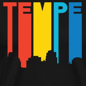 Retro 1970's Style Tempe Arizona Skyline - Men's Premium T-Shirt